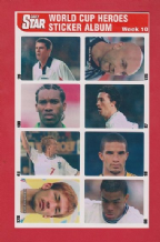 Uncut Sheet 10 Carragher Barthez Babayaro Fowler Parlour James Nakata Dyer